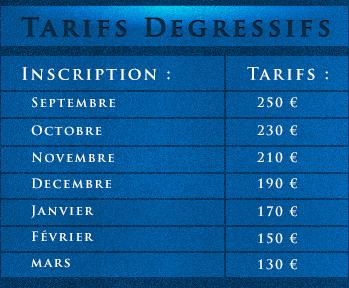 nos tarifs dégressifs